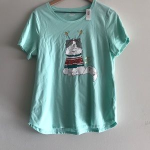 NWT Old Navy Christmas Graphic Tee Size L